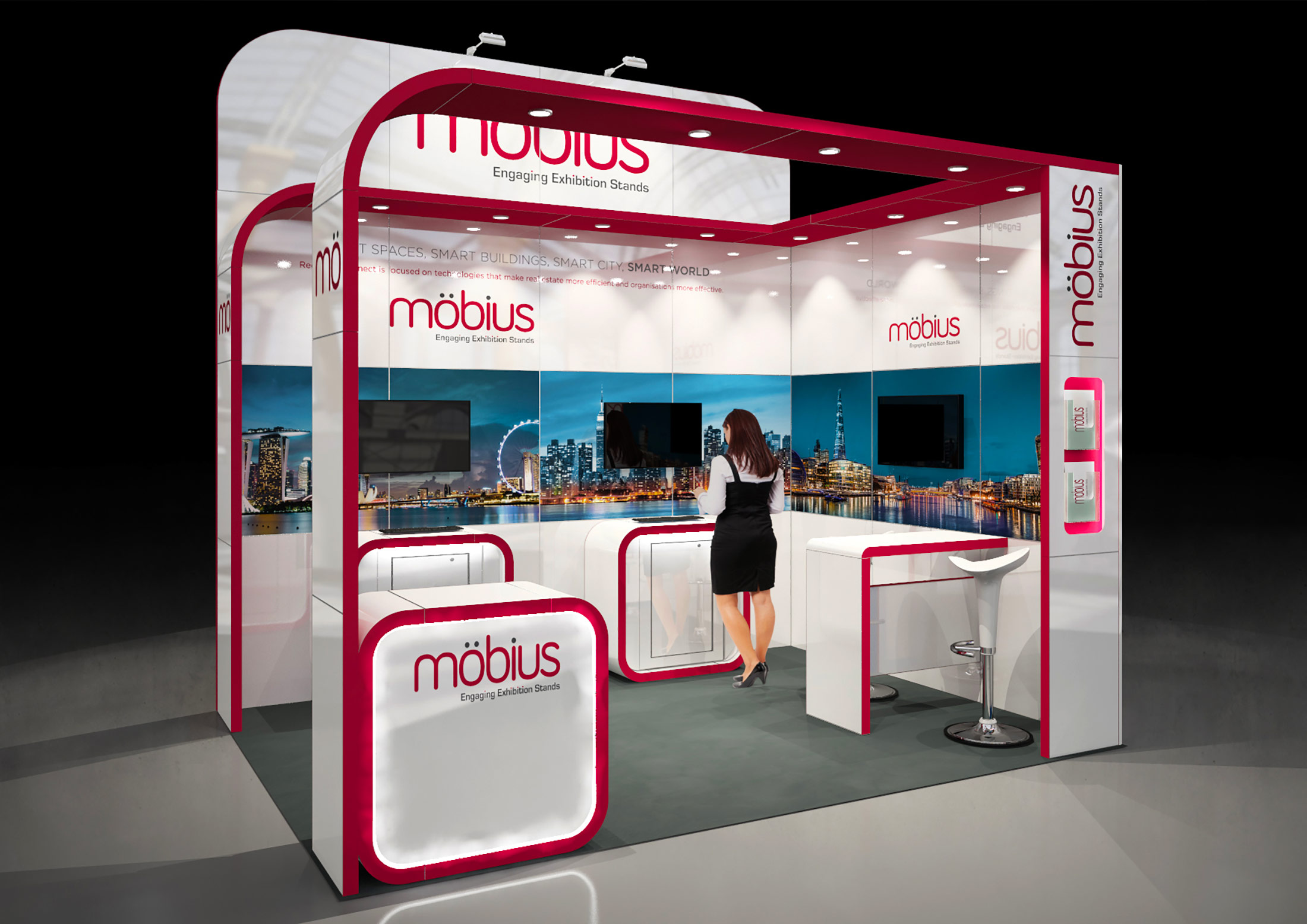 Exhibition Stand Method Statement : M custom built exhibition stand with open sides