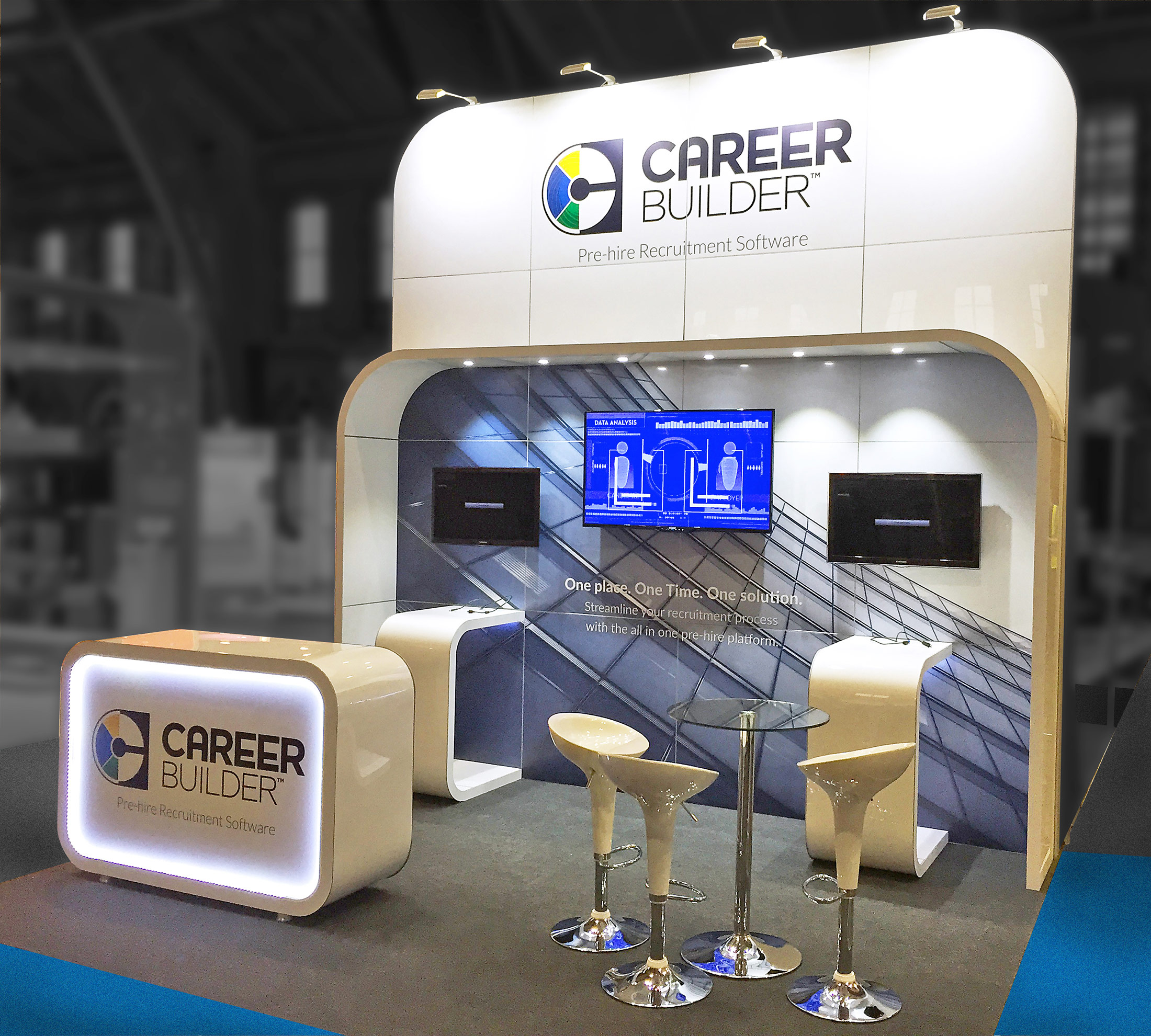 Exhibition Stand Hire Manchester : 4m x 3m custom built exhibition stand for career builder love expo