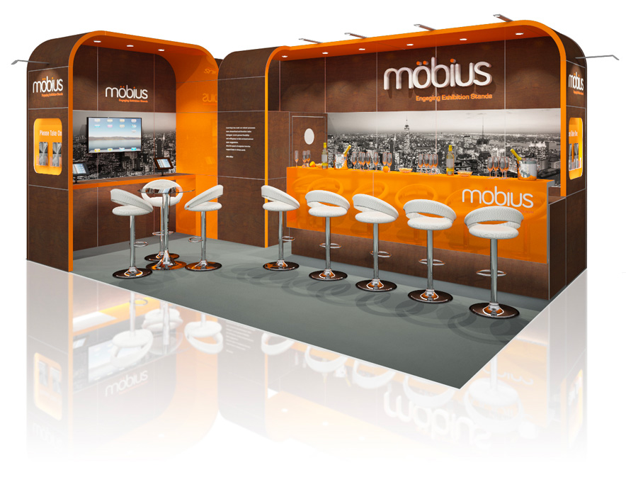 Modular Exhibition Stand Hire : Modular reusable exhibition stands custom stand design