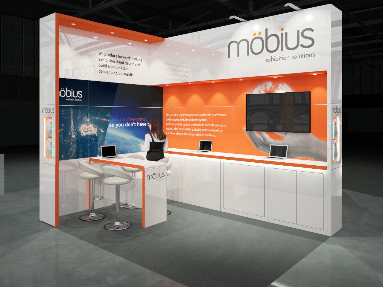 Custom Exhibition Stand Hire : M m open sides custom built stand love expo